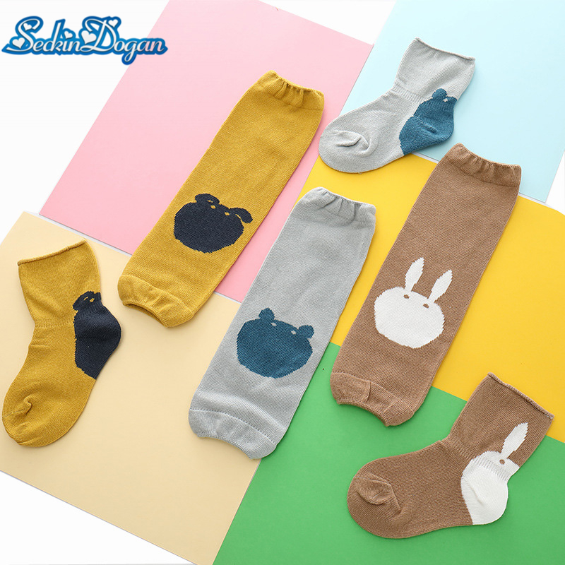 SeckinDogan Baby Socks Cotton Breathable Newborn Baby Knee Socks Set Warm Cartoon Baby Girl Boy ( Knee Pads + Sock) Baby Stuff