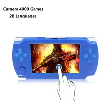 Portable Handheld Touch Game Console 8gb 4.3 inch MP4 Player Video Stopwatch Camera Gaming Consoles Games With 28 Languages