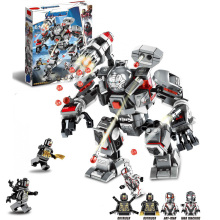 Super Heroes War Machine Buster Compatible With Legoing 76124 Building Blocks Bricks Educational Toys Christmas Gifts lepin 50003 overwatching games compatible legoing 75972 dorado showdown set building blocks bricks educational toys christmas