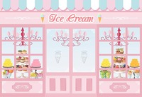 Ice Cream Candy Bar Shop Theme Light Pink photography backgrounds Vinyl cloth Computer print party photo backdrop