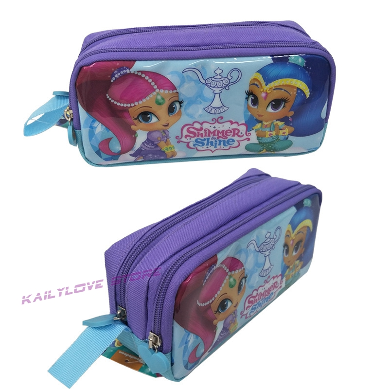 Pencil-Bag Stationery-Bag Shimmer Sister Shine Model Gift Girl Student for Tala Nahal