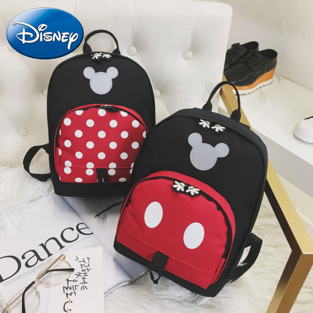 2019 Disney Kids Backpack New Mickey Mouse School Bag Children Girls Boys Backpacks Polyester Cute Cartoon Kindergarten Bags