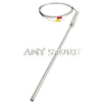 K Type Temperature Controller Earth Thermocouple Probe Sensor 5 x 200mm 1M 2 Pins Forks 0-400C M8 ThreadK Type Temperature Controller Earth Thermocouple Probe Sensor 5 x 200mm 1M 2 Pins Forks 0-400C M8 Thread