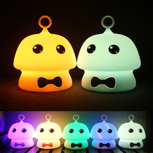 Rechargeable Silica Gel Mushroom Lamp 7 Color Change Touch Switch Bedroom Bookcase Night Light Home Decor Creative Gift Travel