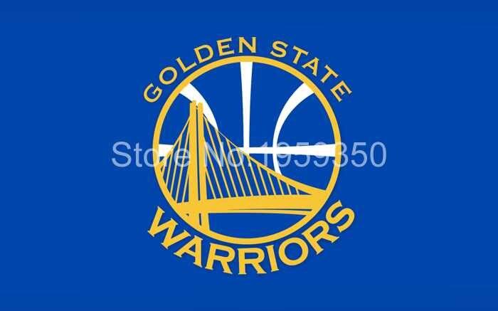 bestflag FREE SHIPPING--Golden State Warriors Flag 3x5 FT 150X90CM Banner 100D Polyester NBA flag 2