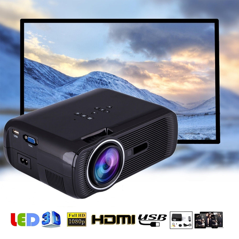 лучшая цена Smart Mini Projector 2000 Lumens 1080P Full HD LED Projector Home Theater Cinema HDMI VGA USB home theater 5.1 Video Projector