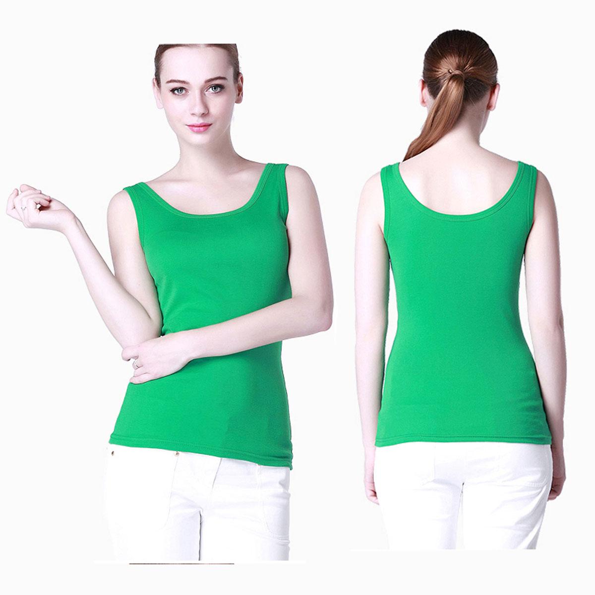 Double u shaped Casual tight tanks Women's Sleeveless Tank Tops modal cotton no Sleeve T-Shirt Vest undershirt custom logo print