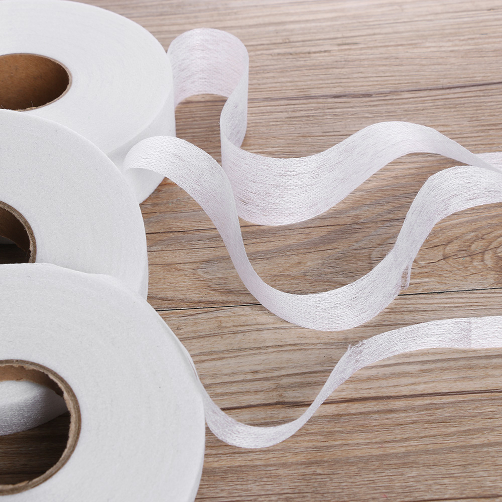 Craft-Supplies Apparel Adhesive Fabric Sewing-Roll Iron-On DIY 100meters Hemming-Tape title=