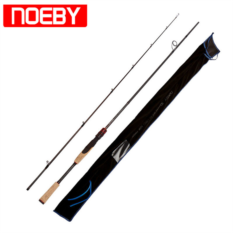 NOEBY 2 Section 1.98m/2.13m Carbon Spinning Fishing Rod M/ML Power Bass Rod Varas De Pesca Para Rios Lure Fishing Rod Fish Pole ethnic magnet clasp layered beaded tassels bracelet for women