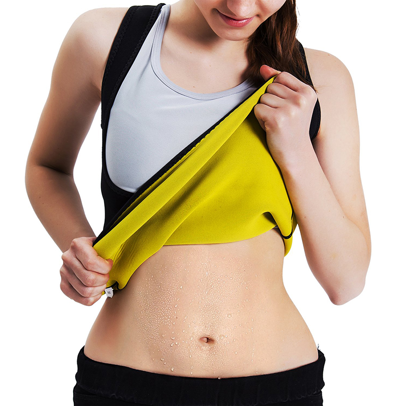 Women's Body Shaper Running Vest Hot Sweat Workout Tank Top Slimming Vest Sportswear Tummy Neoprene Fitness Gym Sports Shapewear