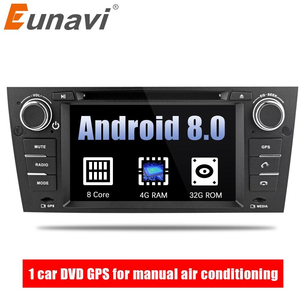Eunavi 7 ''Octa Core 1 Din Android 8.0 Car DVD GPS Navi Per 3 BMW Serie E90 E91 E92 e93 318 320 325 Per Manuale Aria Condizionata