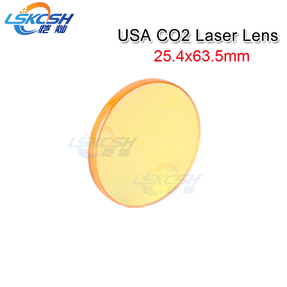 LSKCSH USA Co2 Laser Focus lens Diameter 25.4 Focal Length 63.5mm for metal and Non metal Co2 laser cutting Machines HSG/G.weike free shipping usa znse co2 laser focus lens diameter 20mm focal length 101 6mm for co2 laser cutting and engraving machine