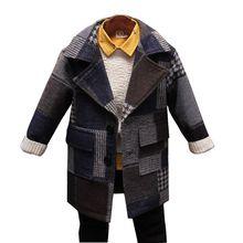 Children's clothing jacket boy's woolen coat Korean children's thick woolen coat in the big children's coat  winter new style