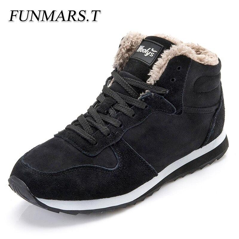 Men Boots Fashion Men's Snow Boots Winter Shoes Men Plush Warm Winter Boots Men Black Blue все цены