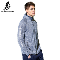Pioneer Camp new spring jacket coat men brand clothing fashion hoodie jacket men top quality stretch casual overcoat AJK705084