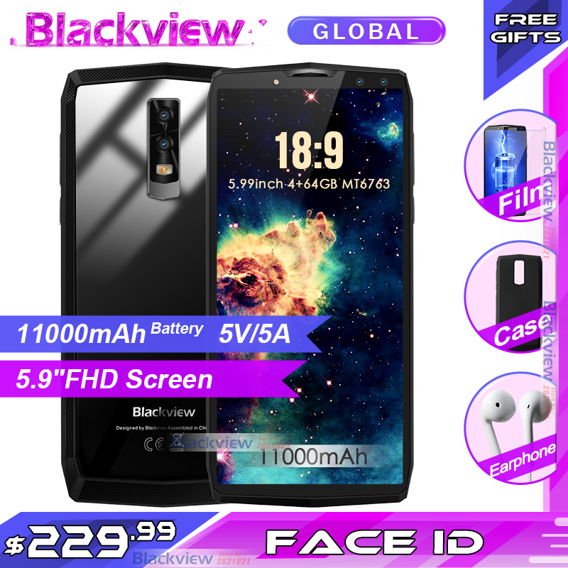 OFFICIAL Blackview P10000 Pro 5 99 In Cell 18 9 11000mAh big battery FHD MT6763 Smartphone