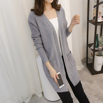 201New Women Winter Long Cardigan Sweaters Female Loose Oversized Jackets Knitted Jumper Autumn Sweater Cardigans For Girls