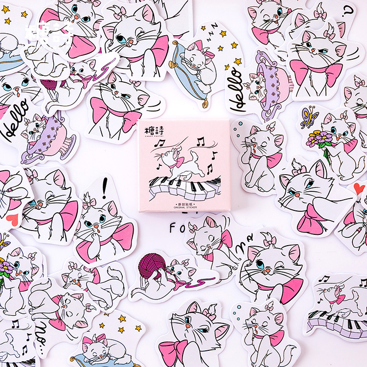 Maiden Cat Music Bullet Journal Decorative Stickers Adhesive Stationery Stickers DIY Decoration Diary Stickers Box Package