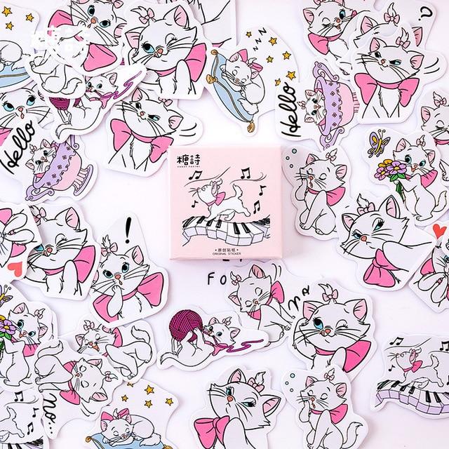 Maiden Cat música bala diario pegatinas decorativas adhesivos de papelería DIY decoración pegatinas de diario paquete