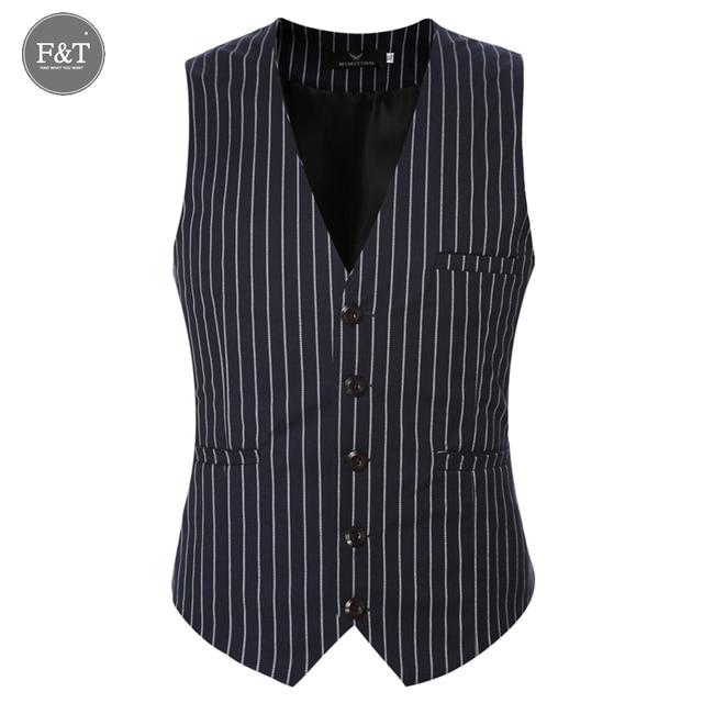 Men Suit Vest Classic Groom Striped Sleeveless Dress Business Blazer Tops Gilet Homme Mens Formal Slim Fit Vest Waistcoat 6XL