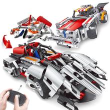 2 Mode Remote Control Vehicle Building Block Toys Assembly Deformation RC car kid boy toys Gifts DIY educational
