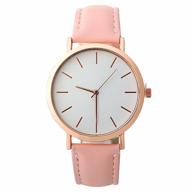 New Pink Red Women Watches Luxury Brand Leather Female Quartz Wrist Watch Simple Fashion Ladies Clock 2019 Girl Relogio Feminino