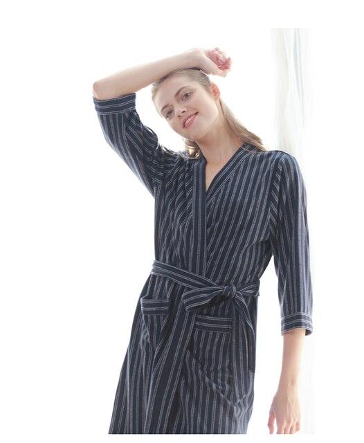 2018 Dressing Gown Robe High Quality Button Sleep Shirt Women Casual ...