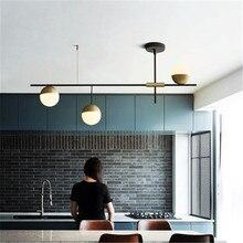 הפוסטמודרנית סגנון מסעדת תליון אור אמנות עיצוב 3 כדורי גלריה סלון מלון אולם השעיה קישוט אורות