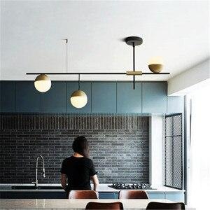Image 1 - הפוסטמודרנית סגנון מסעדת תליון אור אמנות עיצוב 3 כדורי גלריה סלון מלון אולם השעיה קישוט אורות