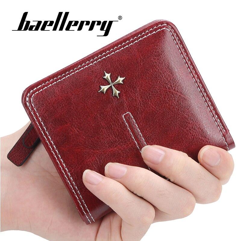 Baellerry Women Zipper Short Wallet Coin Purse Card Holders Handbag Wallet Female Small Womens Wallets and Purses Cross Portfel in Wallets from Luggage Bags