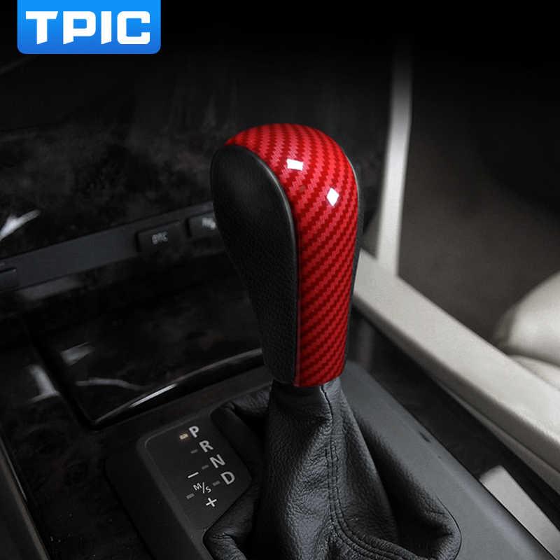 TPIC Auto Accessories Interior ABS Gear Shift Cover Decoration Sticker For  BMW E60 E70 E71 Old 5 Series X5 X6 Car Styling
