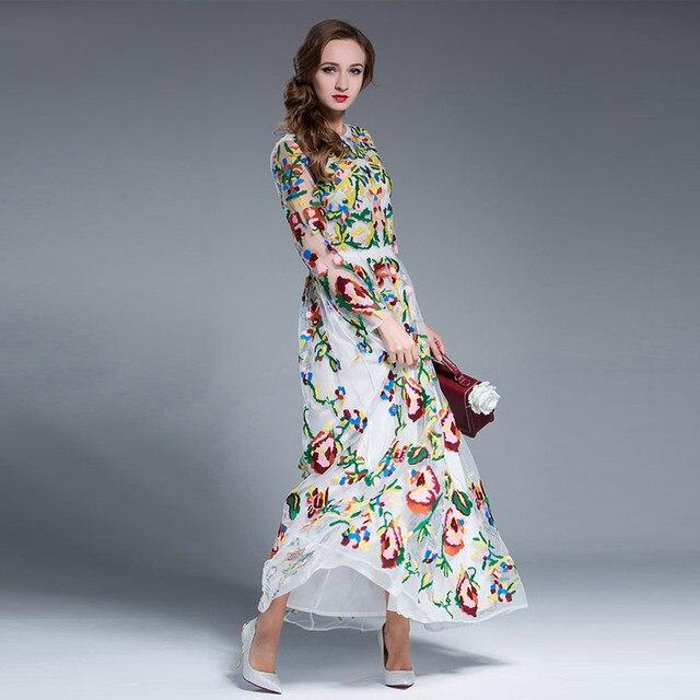 Flower long dresses