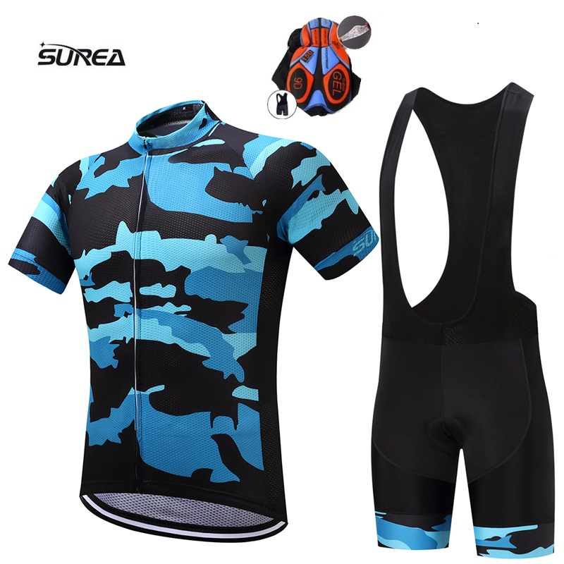 2017 New t shirts men suit Cycling Equipment Short sleeve bib short Summer Breathable cycling clothing Pro MTB bike jerseys