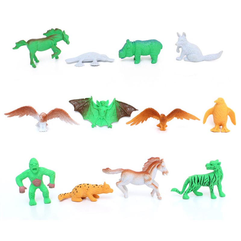 68Pcs/Lot Mini Forest <font><b>Animal</b></font> <font><b>Model</b></font> <font><b>Action</b></font> <font><b>Figure</b></font> Simulation Fence&Trees Dinosaur <font><b>Tiger</b></font> Lion Children Education <font><b>Toys</b></font> Gift TF0054
