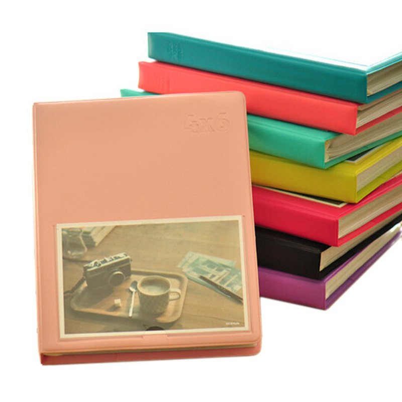 Pa10 Free Shipping High Quality 80 Slots Album Foto Candy Colors 4x6
