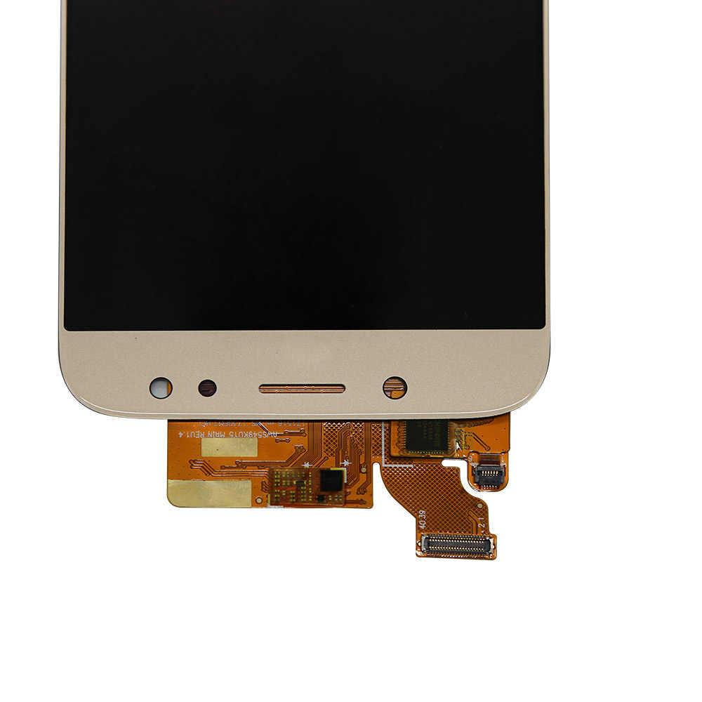 J7 برو lcdFor سامسونج غالاكسي J7 برو 2017 J730 J730F J730GM J730G شاشة الكريستال السائل مجموعة المحولات الرقمية لشاشة تعمل بلمس LCD يمكن ضبط