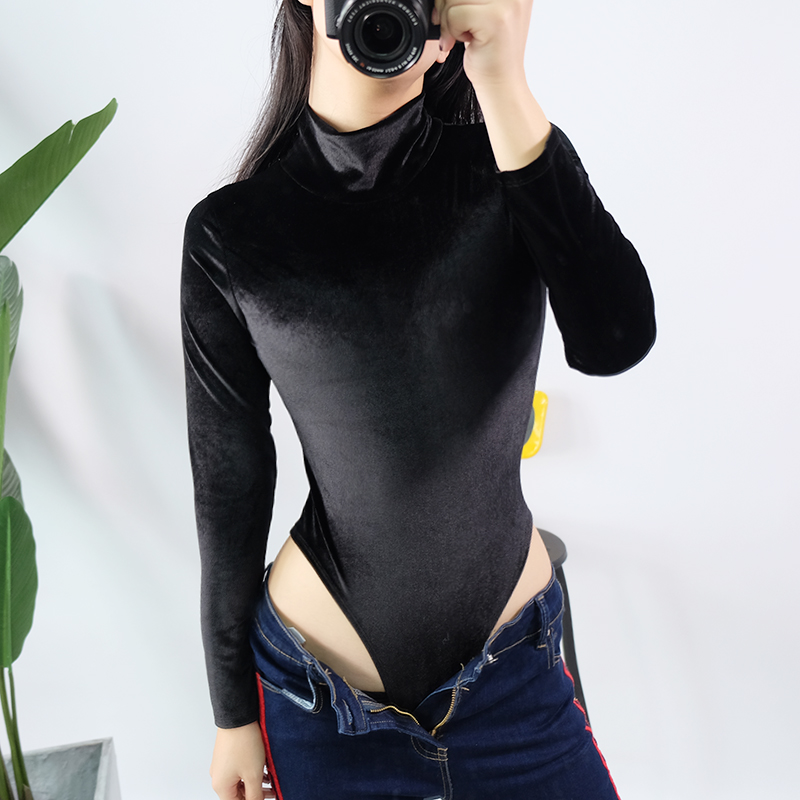 Sexy Womens Turtleneck Long Sleeve Bodysuit Women 2018 Fashion Black Jumpsuits Warm Skinny Female Rompers Combinaison