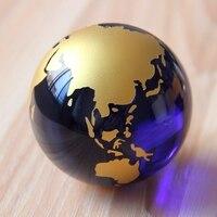 60mm 1 SZTUK Azji Quartz Crystal Ball Kula Earth Globe Szkła Rzemiosło Dekoracji Wnętrz Feng Shui Ozdoby Wesele pamiątka