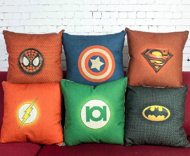 っBatman taie d oreiller, bande dessinée Captain America spiderman ... e72ce275b1ff