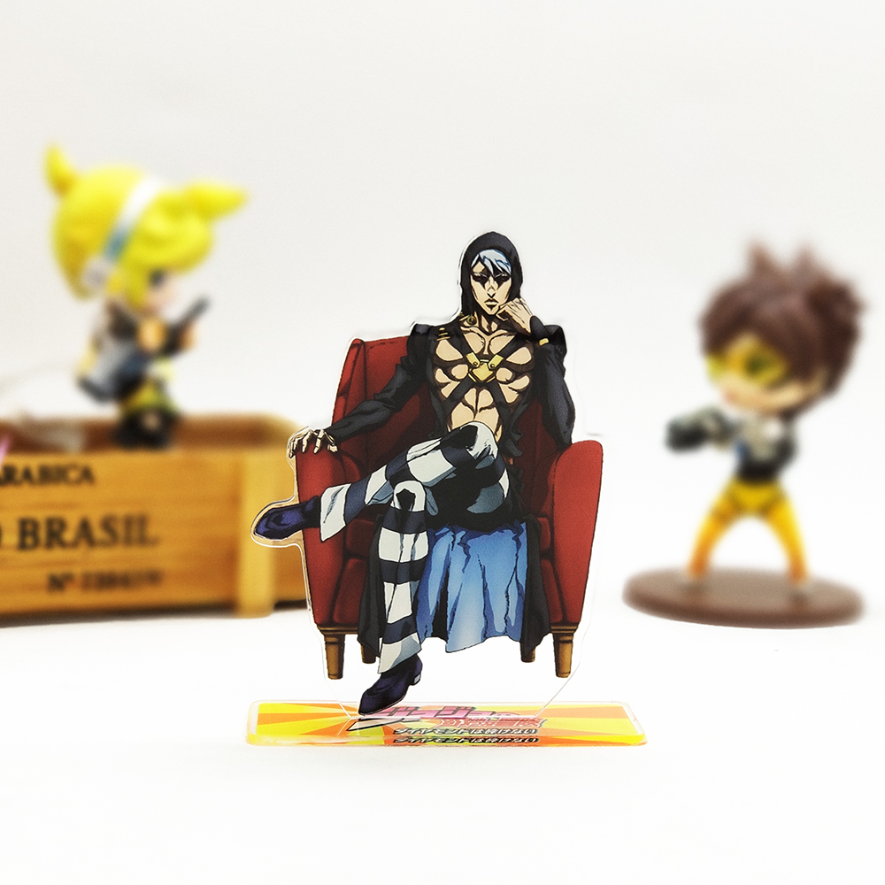Love Thank You JOJO JoJo's Bizarre Adventure Risotto Nero Acrylic Stand Figure Model Plate Holder Cake Topper Anime Japanese