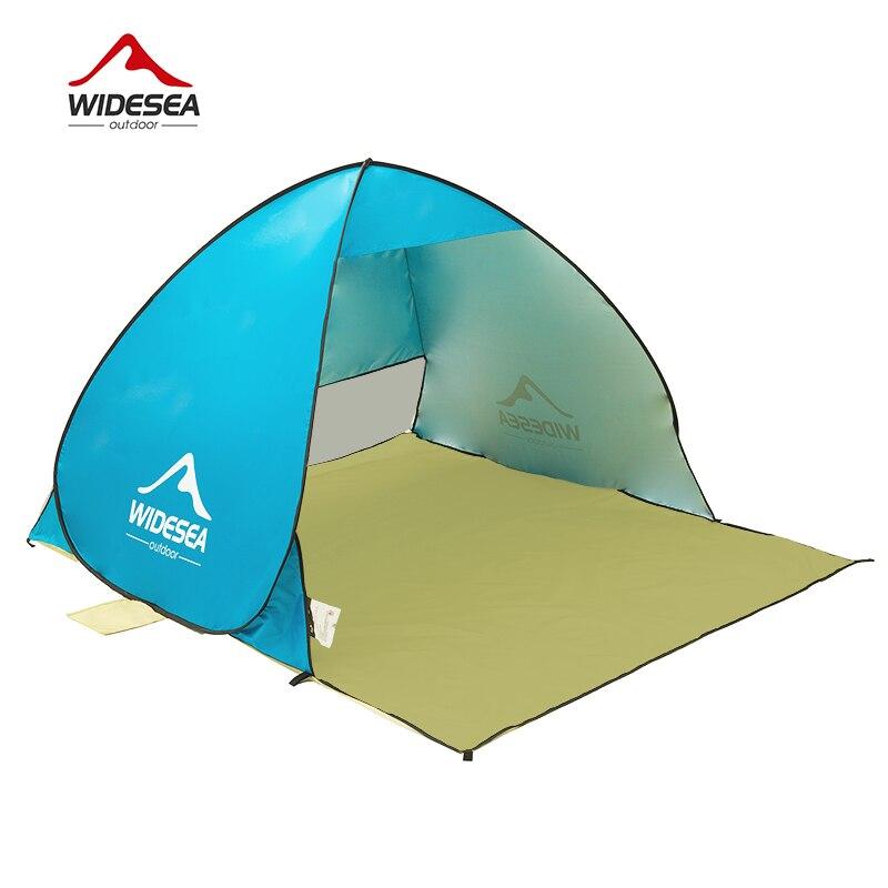 WIDESEA tente de plage pop up ouvert 1-2person sunshelter rapide automatique 90% UV-de protection auvent tente de camping de pêche parasol - 5