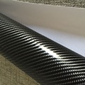 6D Grade Glossy Black Carbon Fiber DIY Car Wrap Bubble Free Air Release Sheet Roll Film Sticker Vinyl Decal