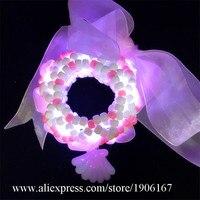 Со светодиодной подсветкой Браслеты Rave музыкальный фестиваль со светодиодной подсветкой Браслеты ночной клуб ювелирные изделия День Свят