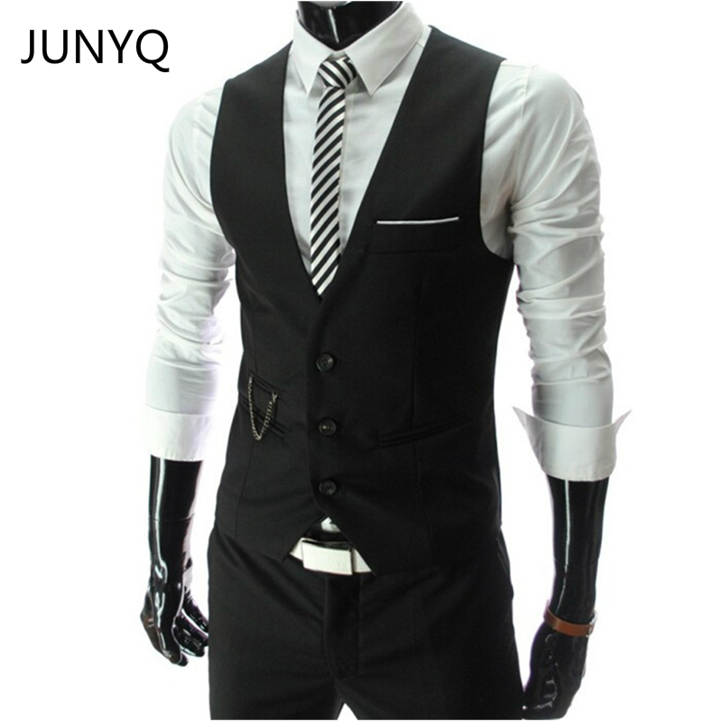 2018 New Arrival Dress Vests For Men Slim Fit Mens Suit Vest Male Waistcoat Gilet Homme  ...