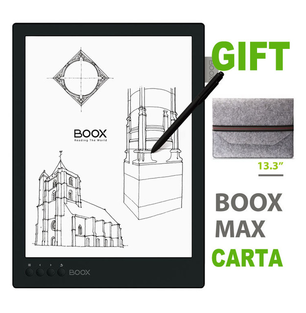 "ONYX BOOX MAX Carta 13,3 ""Flexible Bildschirm E-book-reader 1G/16G Bluetooth 2200x1650 Ebook Reader E-tinte Ereader + Fall"