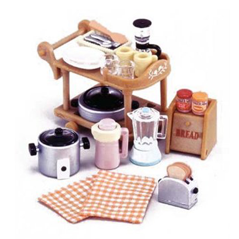 Mini  1 12 Miniature  Kitchen  Room Set  for Sylvanian Family