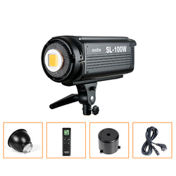 Godox SL-100W Studio Continuous Bowens Mount Led Light Photography Lighting Bowens Mount 5600K LED Video Light Lamp 220V/110V