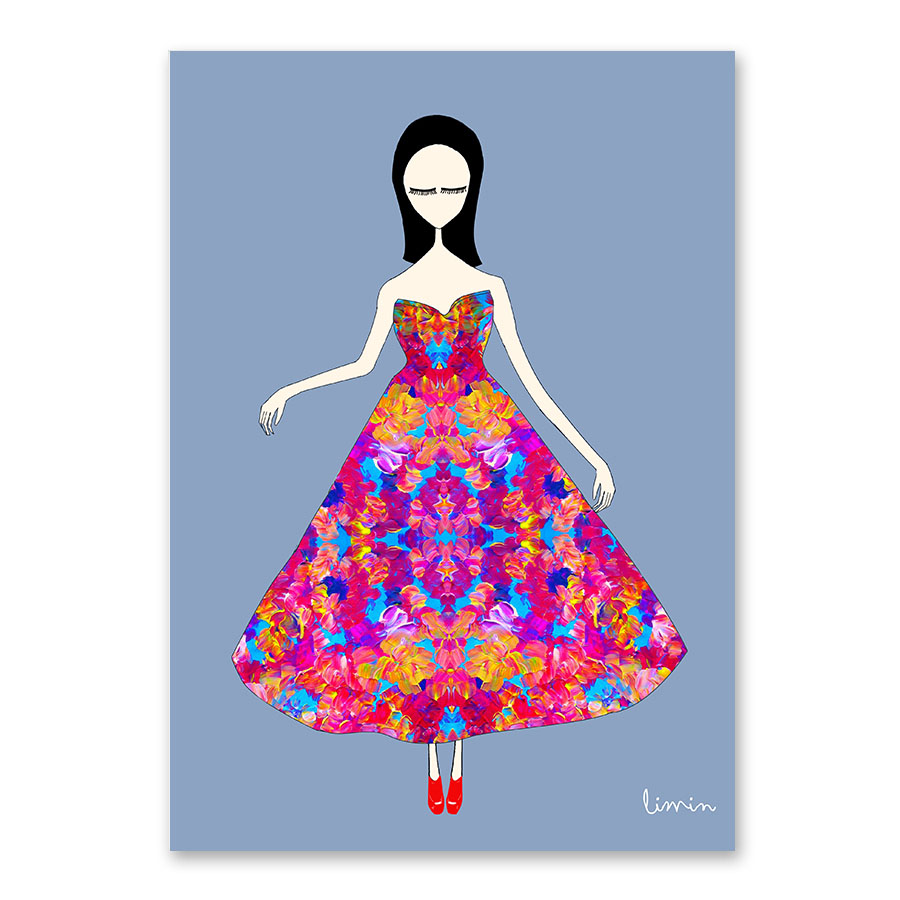 ᗑ】Watercolor Kawaii Cartoon Girl Posters and Prints Wall Art ...