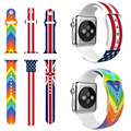 The Union Flag US UK Flag Silicone Wrist Strap for Apple Watch Rubber Band for iWatch 1st 2nd Series 2 42mm 38mm Wristband