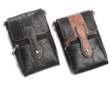 Holster Man Shoulder Belt Clip Mobile Phone Leather Case For Nokia 8,Oukitel K6000 Priemium/K6000 Pro/U7 Pro/K6000/U7/U11 Plus